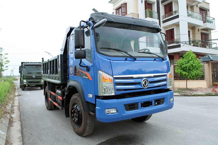Xe ben 1 cầu trọng tải 6t9 thùng ben 6 khối