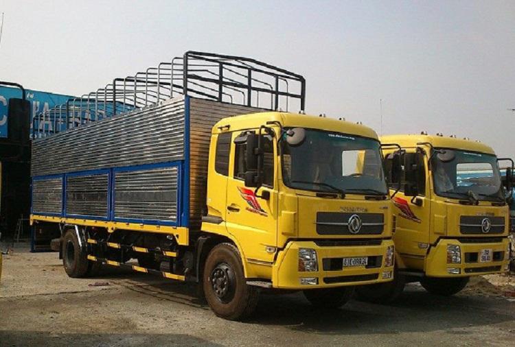 Xe tải Dongfeng B190 Hoàng Huy thùng bạt 9T15