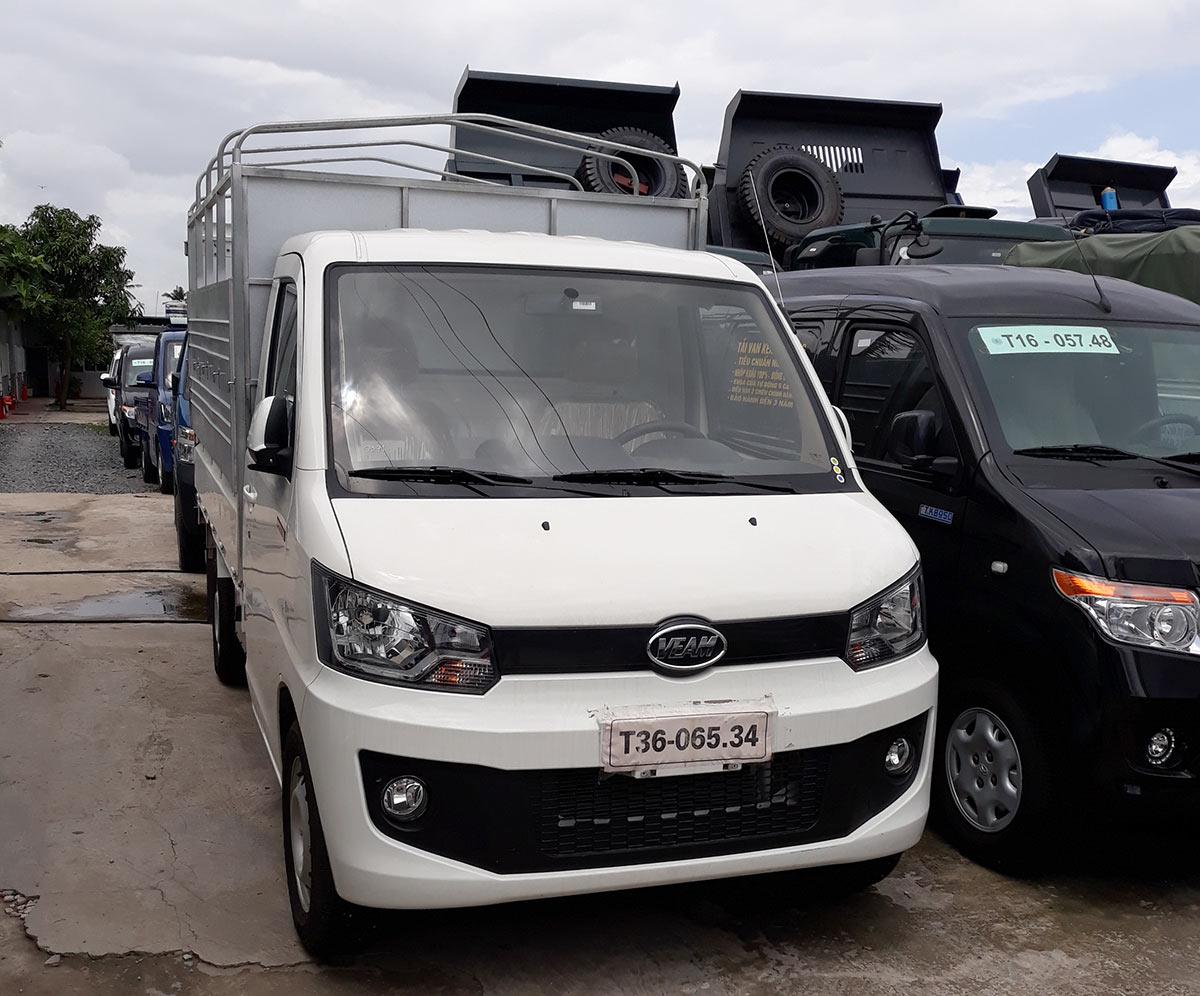 Xe tải Veam 990kg thùng bạt mạnh mẽ và linh hoạt
