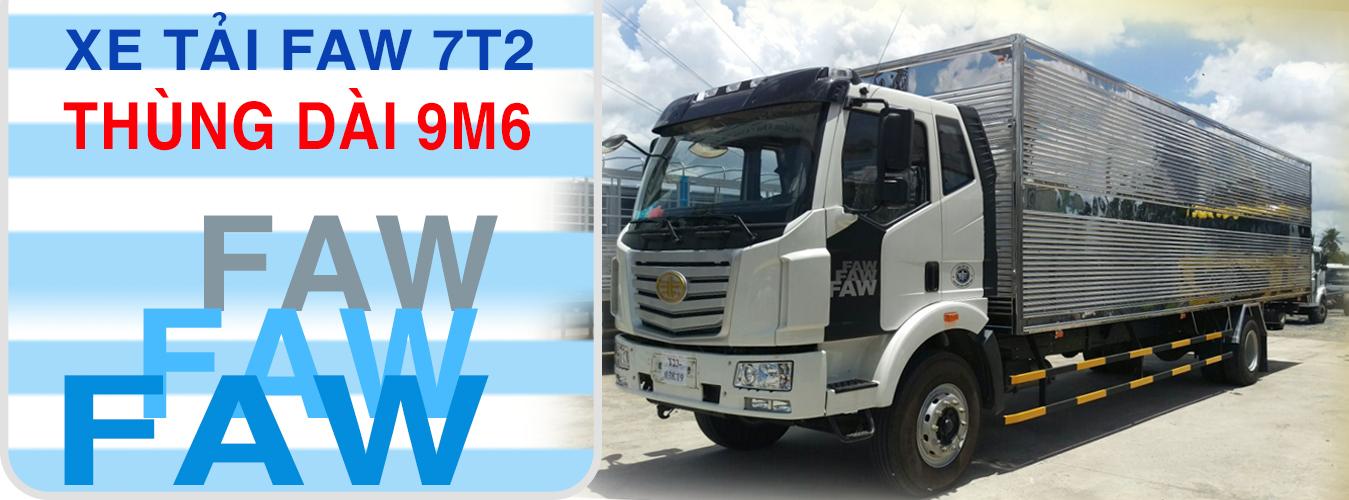 XE TẢI FAW 7T2 THÙNG 9.6M